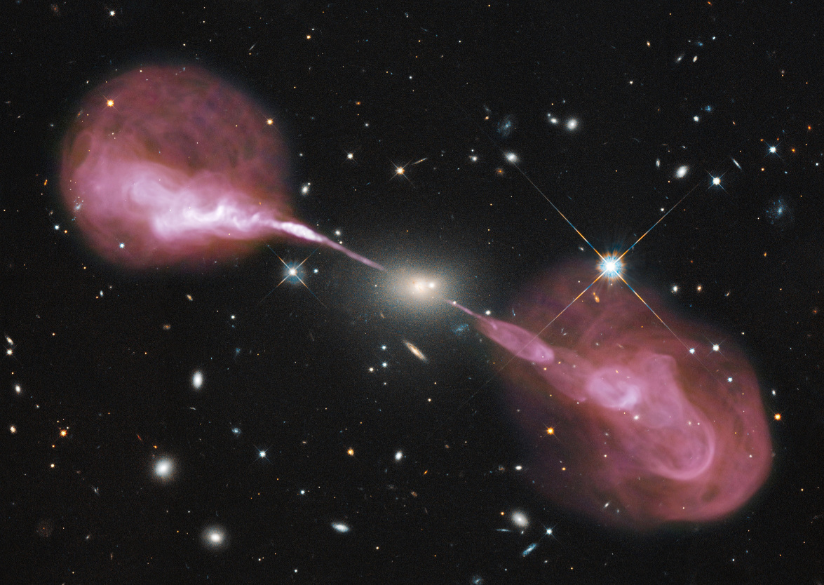 Image credit: NASA, ESA, S. Baum & C. O'Dea (RIT), R. Perley & W. Cotton (NRAO/AUI/NSF), and the Hubble Heritage Team (STScI/AURA).
