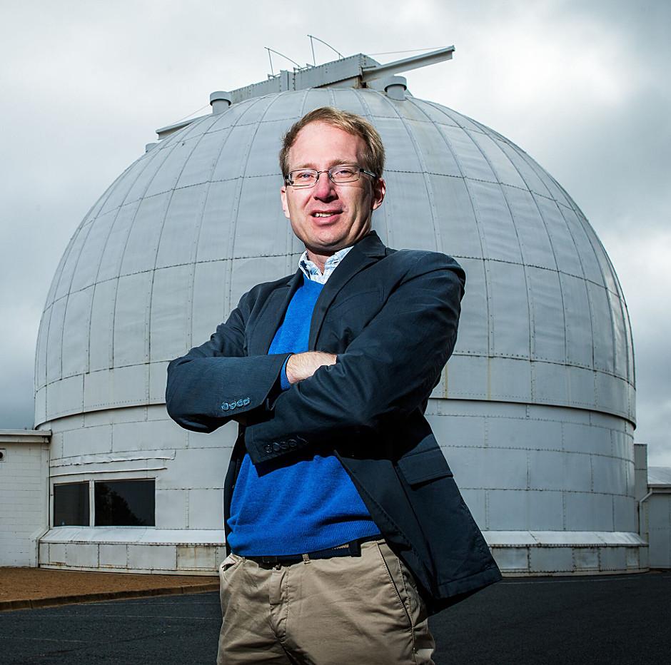 Professor Martin Asplund at Mount Stromlo. Image credit: ANU.