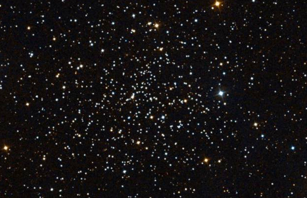 McDonald Observatory astronomer Natalie Gosnell and her team used the open star cluster NGC 188 in the constellation Cepheus as a laboratory to study stellar evolution. Image credit: Digitized Sky Survey 2 (STScI/AURA, Palomar/Caltech, and UKSTU/AAO).