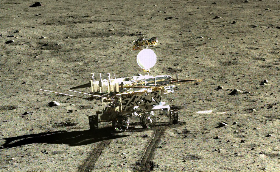 China's Chang'e-3 Yutu rover on the Moon. Image credit: Chinese Lunar Exploration Program / China National Space Administration.