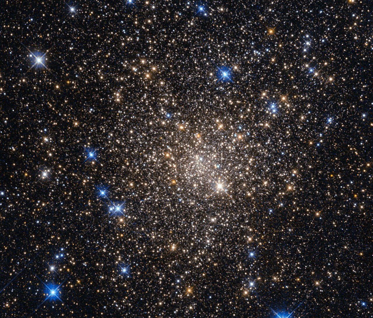 Globular cluster Terzan 1 in the constellation Scorpius. Image credit: NASA & ESA, Acknowledgement: Judy Schmidt.