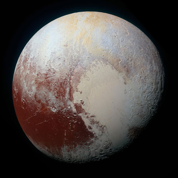 New Horizons provided our very first close-up look at Pluto. Image: NASA/JHUAPL/SwRI.