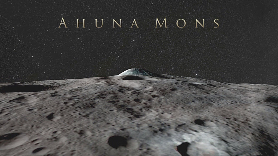 Ahuna Mons on Ceres, a mountain about 4 miles (6 kilometres) tall, in a simulated view using NASA's Dawn spacecraft images. Image credit: NASA/JPL-Caltech/UCLA/MPS/DLR/IDA.