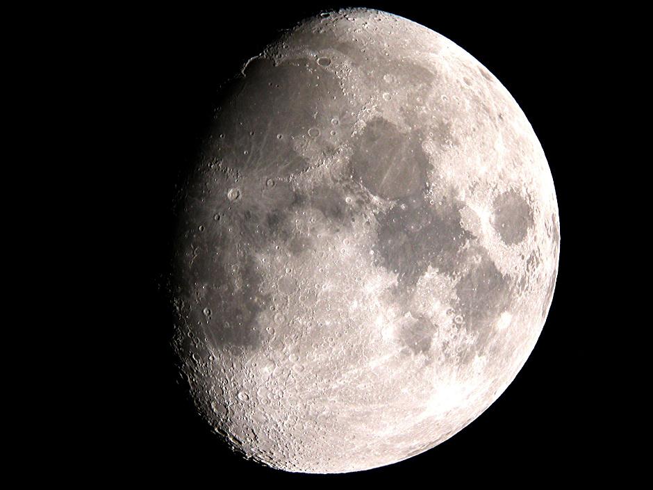 The waxing gibbous Moon of 11January 2014. Image credit: AdeAshford.
