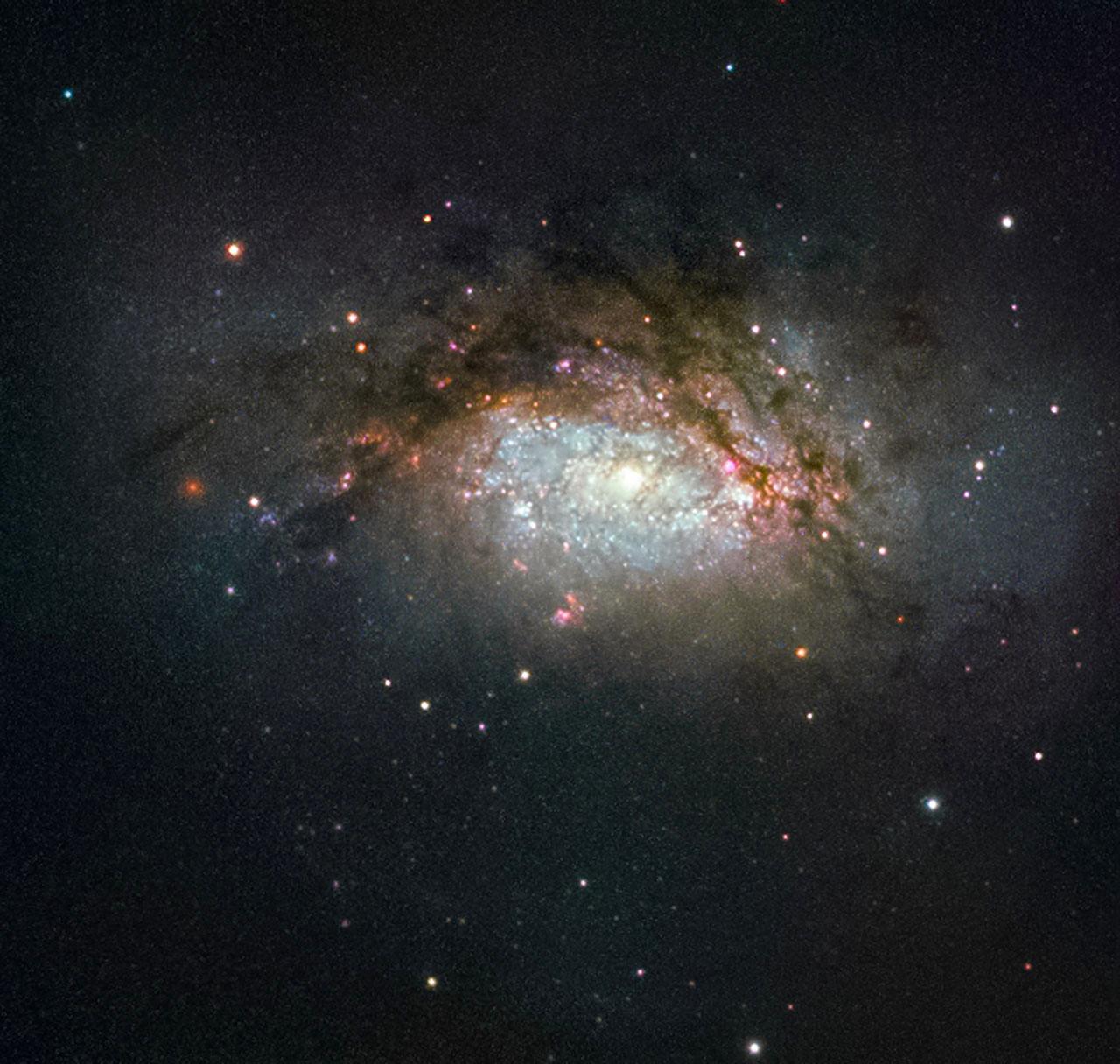NGC 3597. Image credit: ESA/Hubble & NASA Acknowledgement: Judy Schmidt.
