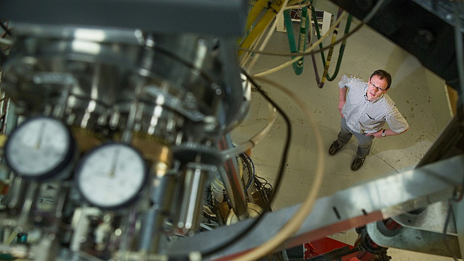 Dr. Anton Wallner at the ANU Heavy Ion Accelerator. Image credit: Stuart Hay, ANU.