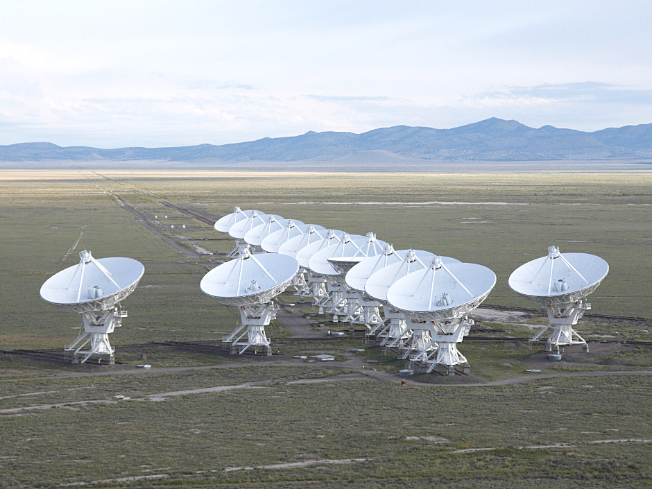 Observations by the NSF's Jansky Very Large Array, pictured here, show that a suspected fast radio burst afterglow is actually radio emission from an active galactic nucleus. Image credit: NRAO.