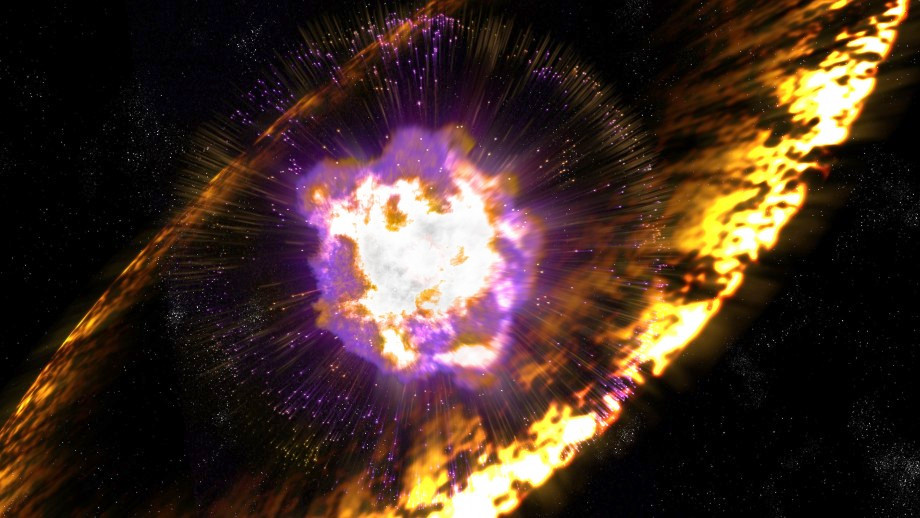 Artist's impression of a supernova. Image credit: Greg Stewart, SLAC National Accelerator Laboratory.
