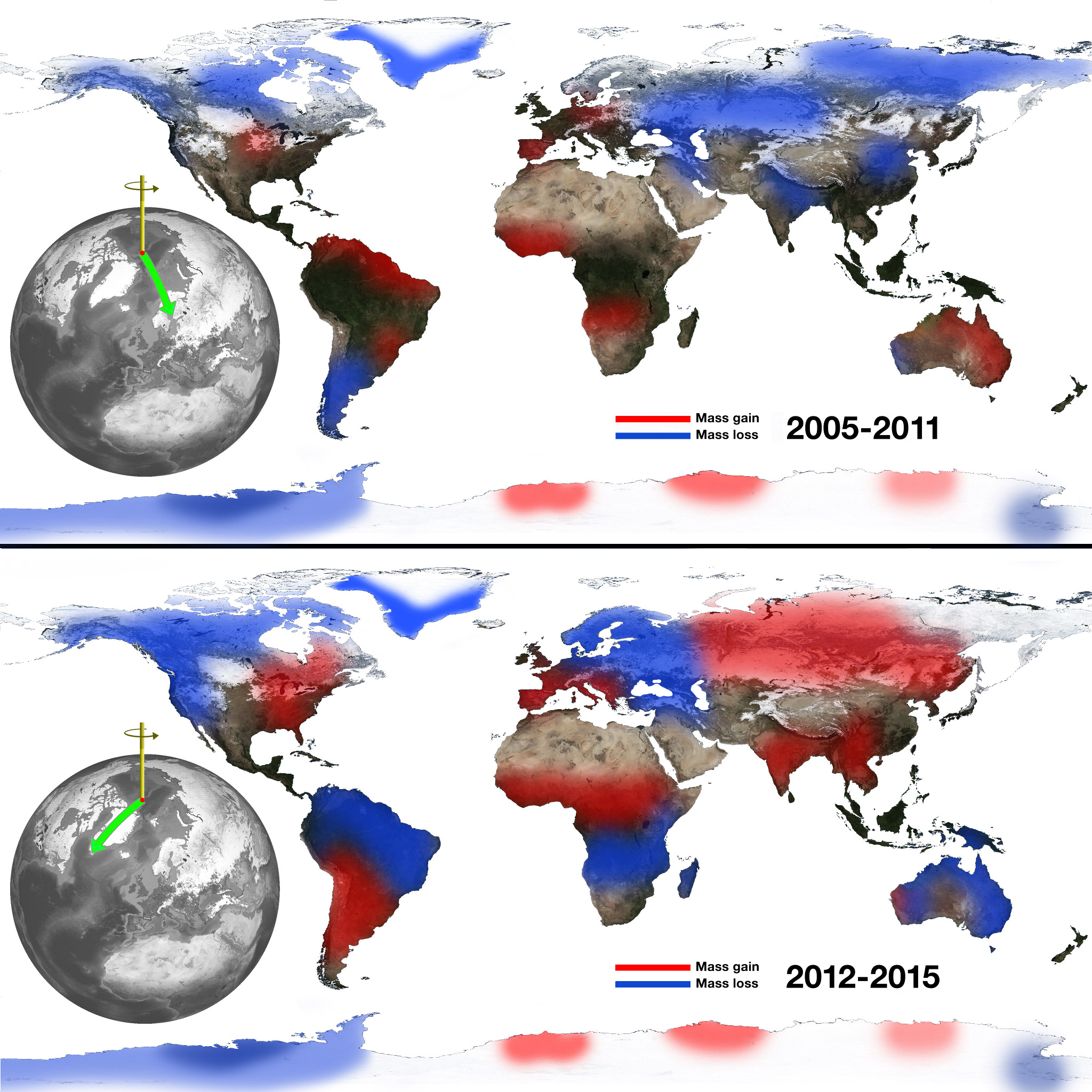 Climate change creates wobbles in Earth's spin axis ...