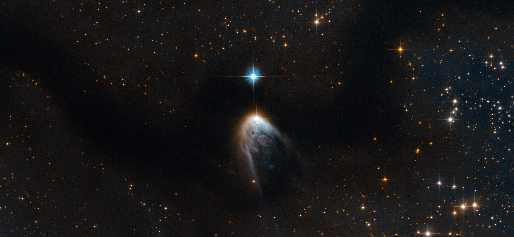 IRAS 14568-6304, a young stellar object. Click picture for a larger version. Image credit: ESA/Hubble & NASA. Acknowledgements: R. Sahai (Jet Propulsion Laboratory), S. Meunier.