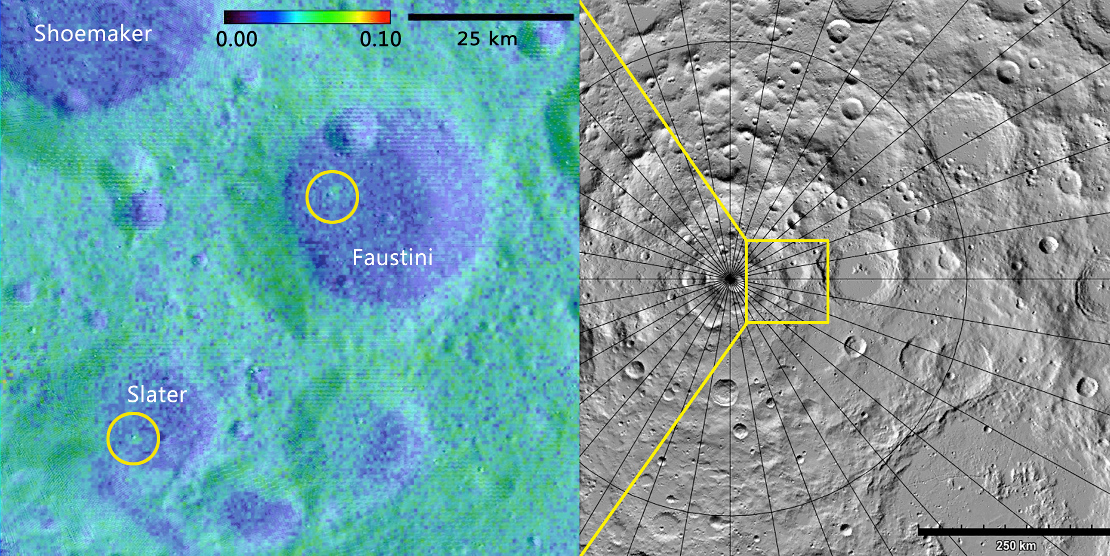 Scientists Find Fresh Impact Craters Near The Moons South Pole - Nasa topographic map