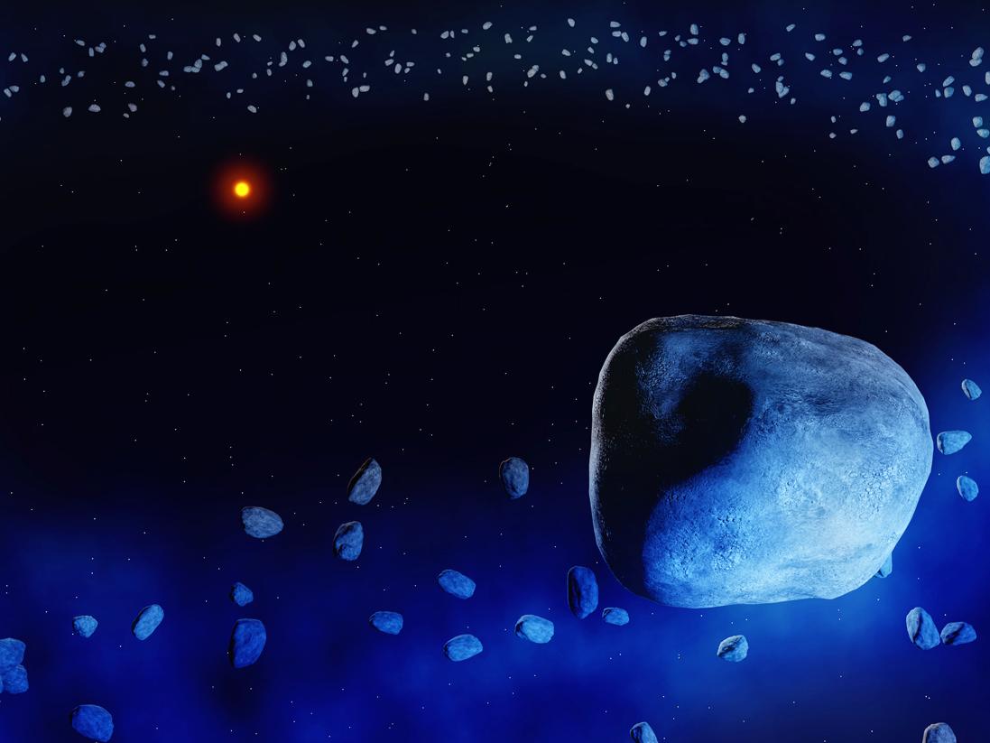 Illustration of the dust ring surrounding the star HD181327. Illustration credit: Amanda Smith, University of Cambridge.