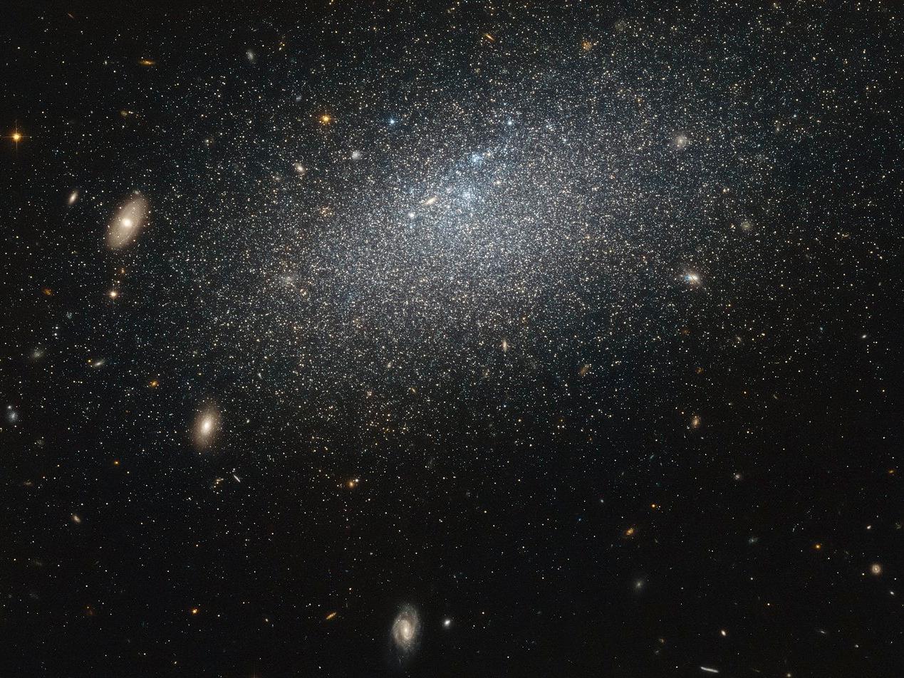 Irregular dwarf galaxy UGC4879 lies about 4million light-years away in the constellation of Ursa Major. Image credit: NASA & ESA.