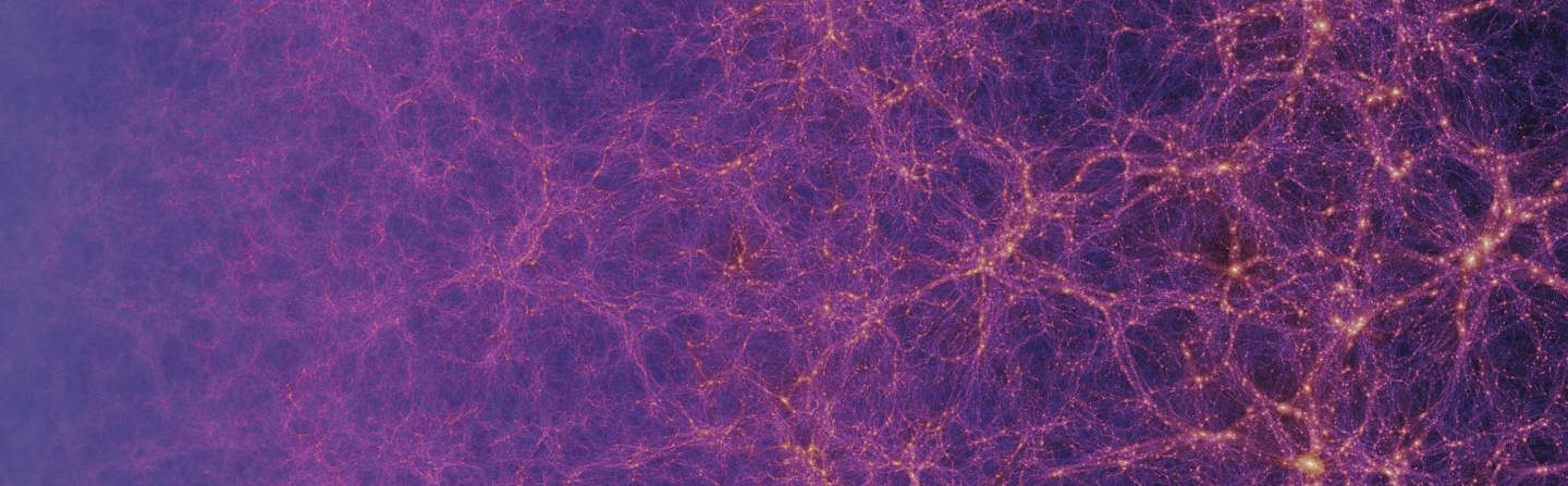 This image shows 13.8billion years of evolution of the dark matter in the EAGLE simulations. The intensity shows the density of dark matter. Researchers used EAGLE simulations to predict the rate at which gravitational waves caused by collisions between supermassive black holes might be detected. Image credit: The EAGLE project/Stuart McAlpine.