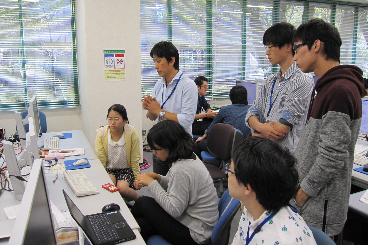 Data analysis workshop for undergraduate students, held in Mitaka Campus of the National Astronomical Observatory of Japan in September 2015. Image credit: NAOJ.