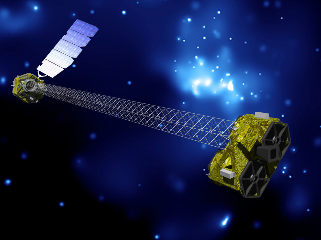 NASA's NuSTAR (Nuclear Spectroscopic Telescope Array) is a space-based X-ray telescope launched on 13 June 2012. It operates in the range of 3 to 79 keV, energies beyond those of the Chandra X-ray Observatory and XMM-Newton. Image credit: NASA/JPL.