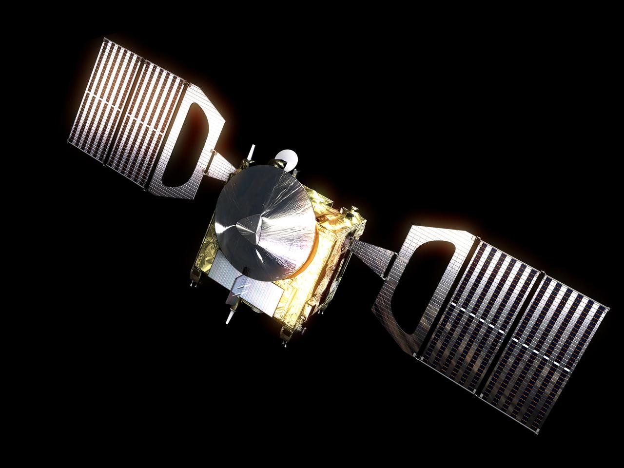 Artist's impression of ESA's Venus Express. Image credit: ESA.