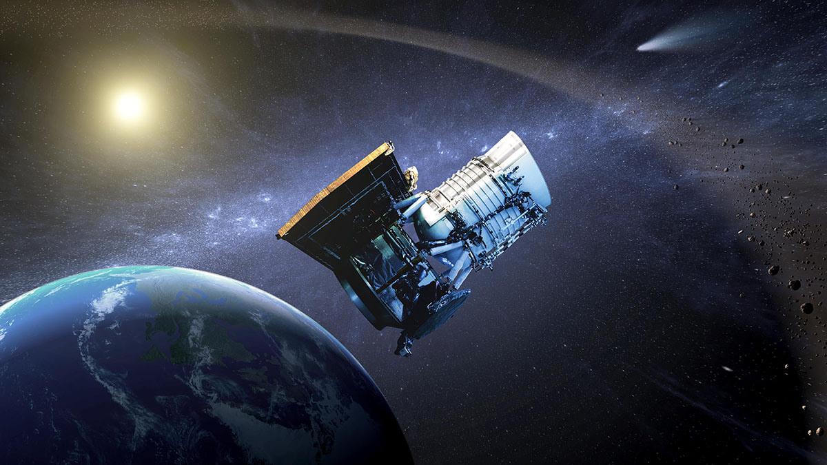 The Wide-field Infrared Survey Explorer (WISE) spacecraft. Illustration credit: NASA/JPL-Caltech.
