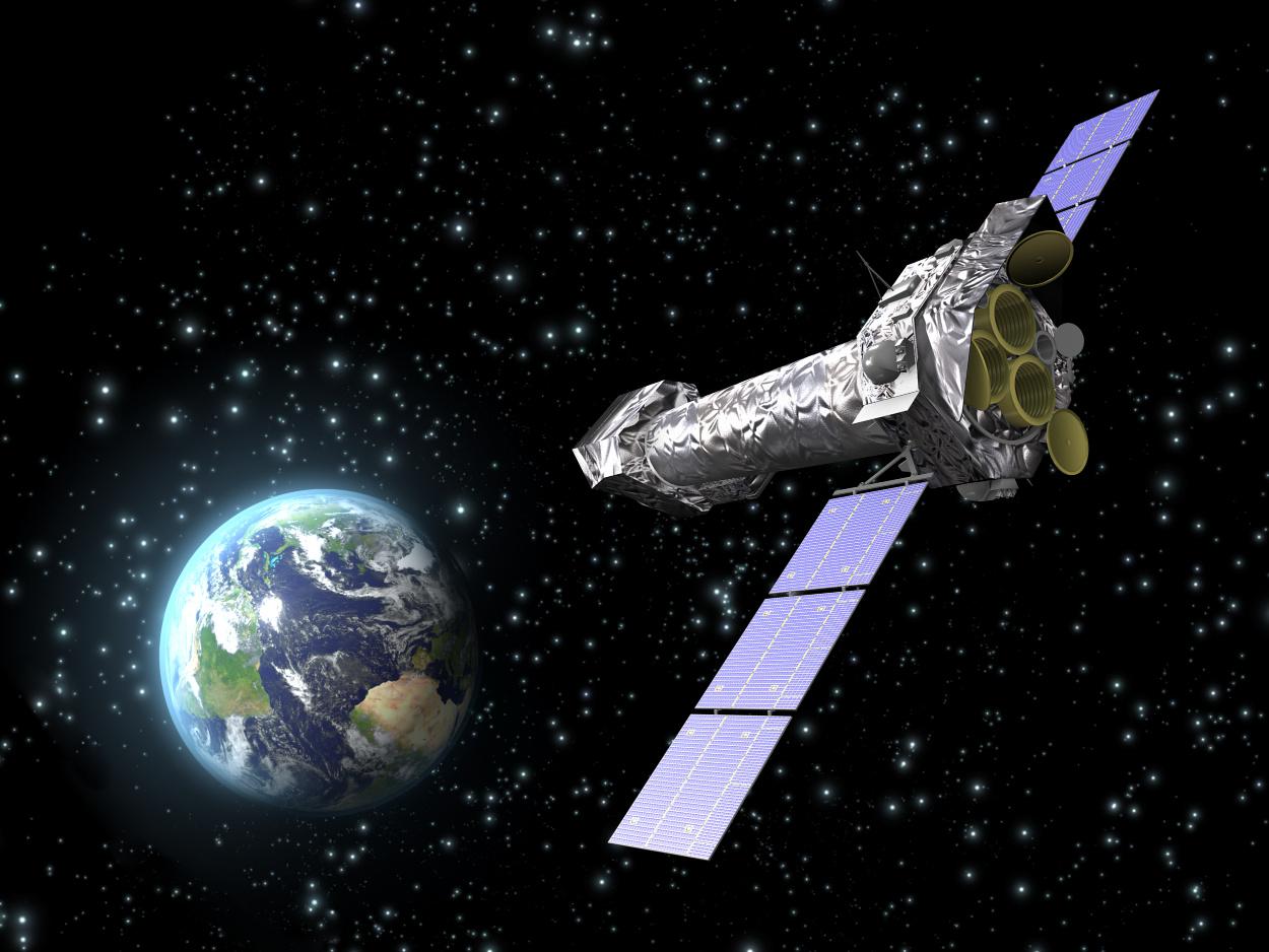 Artist's impression of ESA's XMM-Newton X-ray Observatory. Image credit: © ESA.