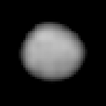 The NASA/ESA Hubble Space Telescope observed 2Pallas in September 2007 with its  Wide Field and Planetary Camera (WFPC2) in order to model the asteroid's size and shape, determine its surface properties and rotational aspect. With an angular resolution of 0.045arcsec in the ultraviolet, Pallas was imaged at approximately 43miles (70kilometres) per pixel resolution, resulting in this best portrait to date. Image credit: Hubble Space Telescope/STScI.