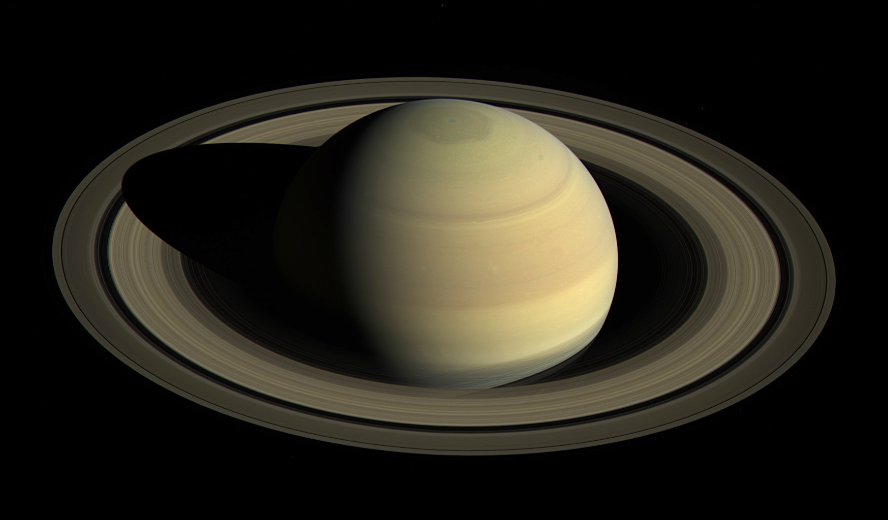 Since NASA's Cassini spacecraft arrived at Saturn, the planet's appearance has changed greatly. This view shows Saturn's northern hemisphere in 2016, as that part of the planet nears its northern hemisphere summer solstice in May 2017. Image credit: NASA/JPL-Caltech/Space Science Institute.