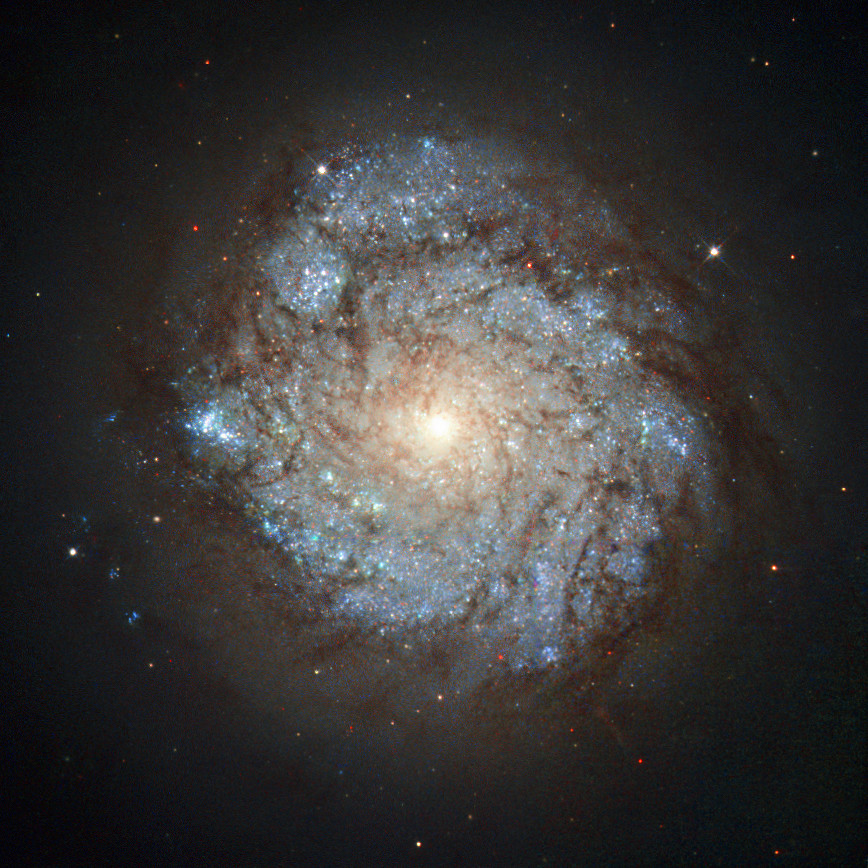 NGC 278 is a magnitude +11.5 spiral galaxy (α=00h 52.1m, &delta=+47° 33' J2000.0) some 38 million light-years away in the constellation of Cassiopeia. This Hubble view is 1.45 x 1.45 arcminutes in extent. Image credit: ESA/Hubble & NASA and S. Smartt (Queen's University Belfast).