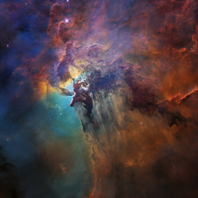 Hubble peers into the heart of the Lagoon Nebula ...