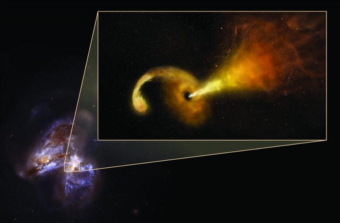 Astronomers 'see' aftermath of black hole lunching on doomed star