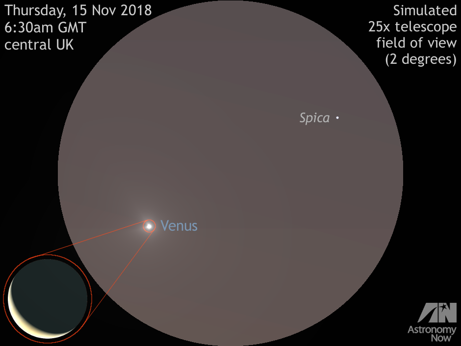 Catch Venus near bright star Spica in the dawn sky
