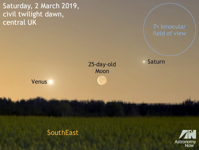 c6963bd2e3 See the old Moon between Venus and Saturn at dawn on 2 March ...