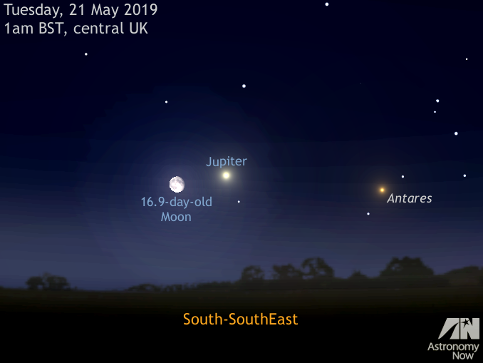 See the Moon and Jupiter get close in the small hours of 21 May