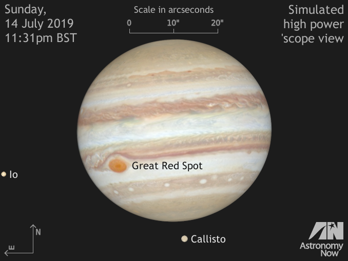 Further Jupiter events for UK observers in July 2019 – Astronomy Now